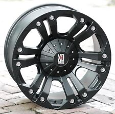 18x9 Black wheels XD778 Monster 1994-2018 DODGE RAM 2500 3500 Trucks 8x6.5 -12mm