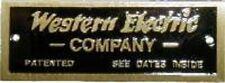 Western Electric Company NAMEPLATE  B9988
