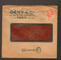 """PARIS (XVII°) SERRURERIE / CLES """"DENY & Cie"""" en 1952"""