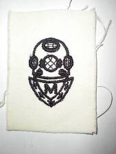 ORIGINAL WWII US NAVY MASTER DIVER RATING BADGE -WHITE