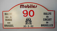 rally du circuit de bruxelles , targa , rally plate, anno 20/05/82 introvabile