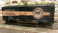 Athearn HO BB Vintage 40' Boxcar, B&O Timesaver, Upgraded, Exc.