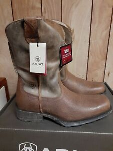 Ariat Mens Rambler Square Toe Western Boots Earth/Bomber Brn 10002317 size 9 M