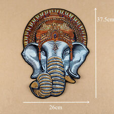 Large Elephant Beaded Sew On Patch Badge Bag T-shirt Fabric Applique Craft