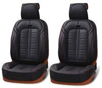 Per Nissan Audi Renault Coprisedili Nero 2 Pezzi Lusso Ecopelle Traspirante 1+1