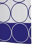 Ridder Circle 463830-350 Shower Curtain 200 x 180 cm Textile Blue RRP £37.99
