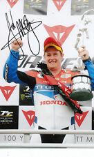 John McGuinness mano firmado Honda Tt Leyendas 7x5 Foto 2.