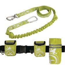 Laisse de jogging + ceinture de jogging canisport vert CANICROSS pour chien