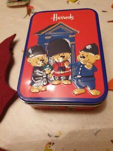 Harrods London Bear Small Vintage Tin Collectible Advertising Christmas