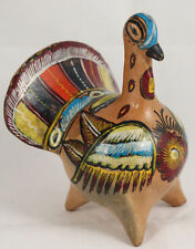 Vntg Ceramic/Pottery Mexican Turkey Figurine Bird Collectible Hand Made/Painted