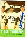 Autographed 1963 Topps Jim Bunning  Detroit Tigers Baseball card #218  w/COA