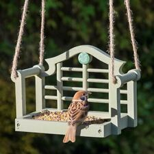 Wildlife World National Trust Lutyens Swing Seat Bird Feeder Table - Sage Green