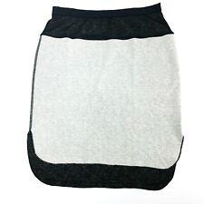 Anthropologie Three Dots Color Block Pencil Skirt NWOT Black Small HiLo Hem