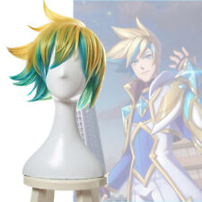 League of Legends LOL Star Guardian Ezreal Gold Green Short Cosplay Wigs