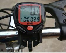 Waterproof 14 Function LCD Bike Bicycle Odometer Speedometer Cycling Speed Meter