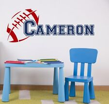 Rugby Wall Decal Boy Name Decal Sport Personalized Vinyl Sticker Bedroom Art T49