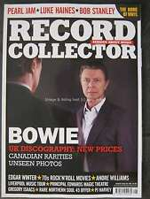 Record Collector August 2016 David Bowie Pearl Jam Luke Haines Bob Stanley