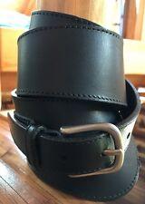 BANANA REPUBLIC Women's Cross Over Leather Black Waist Ring Belt Size S #679902