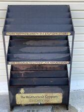~ Vintage Weatherhead Steel Store Display Rack With Cabinet