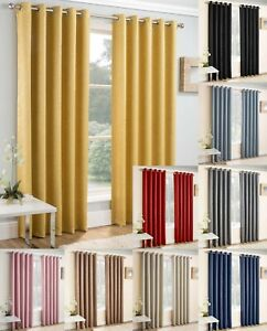 Enhanced Living Vogue Self Lined Eyelet Curtain.Thermal, Blockout , 9 cols,