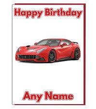 F1 Sports Race Car Birthday Card Pop Up 3D Husband Boyfriend Son Brother........