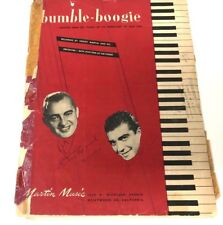 BUMBLE BOOGIE by Jack Fina , Freddy Martin SIGNED Piano Music Sheet Vtg 1946