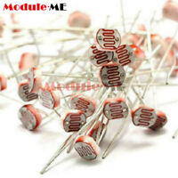 50PCS Photoresistor LDR CDS 5mm Resistor Sensor Light-Dependent GL5516 Arduino