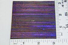 "TEXTURED FIBROID 3""x 3"" BLACK IRIDIZIED UROBOROS GLASS 90 COE TESTED COMPATIBLE"
