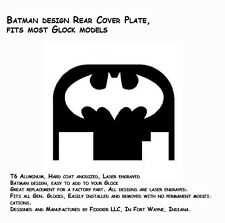NEW Batman Design Rear Slide Plate Cover Glock 17 19 21 22 23 27 30 34 36 40 41