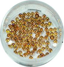Halbperlen 1.2mm  ca. 50 Stk. Pearl Glitzer Pearl Nail Art Honiggelb #00572-05
