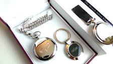 Morris Minor Argent Classique Voiture Montre de poche et porte-clés Set de luxe cadeau Case