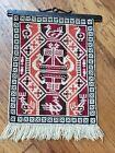 Klokkestre Norwegian Tapestry Wall Hanging Scandinavian Folk Art Wrought Iron
