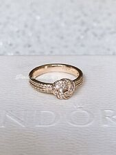 Authentic Pandora Love Knot Rose Gold Ring W/ Gift Box 54 Size 7