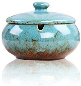 Aschenbecher mit Deckel Sturmaschenbecher aus Keramik, Winddicht & Handgefertigt