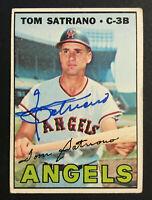 Tom Satriano Angels signed 1967 Topps baseball card #343 Auto Autograph