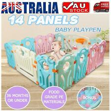 14 Panels 100 Balls Baby Playpen Toddler Children Safety Fence Kid Play Pen Room