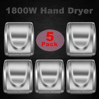 5Pcs 1800W Stainless Steel Electric Hand Dryer Commercial and Household Use NEW