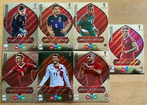 Panini Adrenalyn World Cup 2018 - Lot of 7 Limited Editions Cards - Ultra Rare