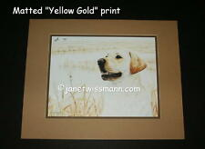 PAINTING ART PRINT w/Matting signed, Ltd.Ed Yellow Lab Labrador Retriever golden
