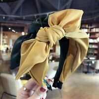 Fashion Fabric Hair Band Bow Wide Women Headband Knot Alice Head Band Accessorie