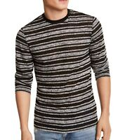 Guess Mens T-Shirts Black Size Large L Crewneck Striped Long Sleeve $49 #066