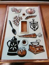 Light Switch Home Decor Kitchen Theme Bronze and Off white