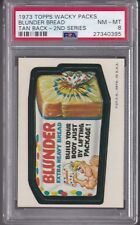 1973 Topps Wacky Packages BLUNDER BREAD (TB) PSA 8 NM/MT Series 2 Packs