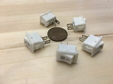 5 Pieces small mini 10mm x 15mm On/Off Rocker Switch 3a 2 Pin 12V 110V 250V C23