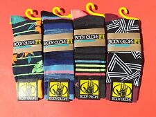 NWT Men's BODY GLOVE 4 Prs Funky Colors Casual Crew Socks Size 6-12.5 Lot 1