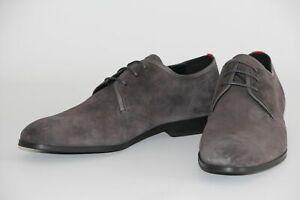 HUGO BOSS Schuhe, Mod. Boheme_Derb_sd, Gr. 45 / UK 11, Dark Grey