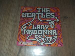 """SP POP / ROCK THE BEATLES """"LADY MADONNA"""" 1968 FRENCH FO 111"""