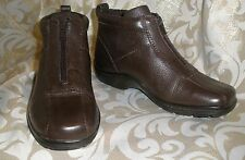 EASY SPIRIT BROWN LEATHER ANKLE STYLE BOOTS CHUKKAH SHOOTIES 6 M BACKONTRACK