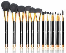 Morphe Set Black And Gold Makeup Travel Set Pop Art Brush Sponge 15 Piece Gift