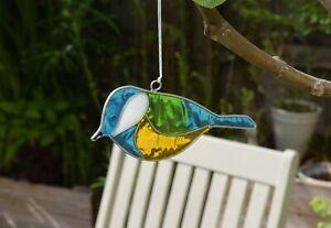Blue Tit Bird Suncatcher - Window Decoration - Garden Sun Catcher
